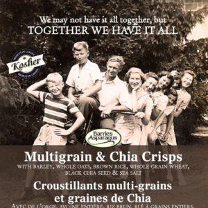 Barrie's Asparagus | Multigrain & Chia Crisps