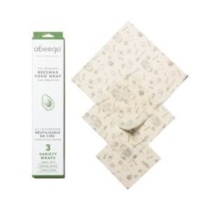 Abeego Beeswax Wraps (Variety 3 Pack)