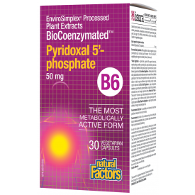 Natural Factors | Biocoenzymated Pyridoxal 5-P (B6)